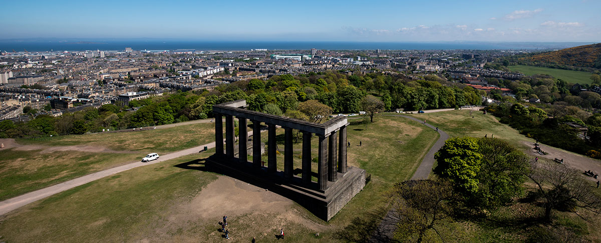The monument on Calton Hill, guide to getting married in Edinburgh city centre