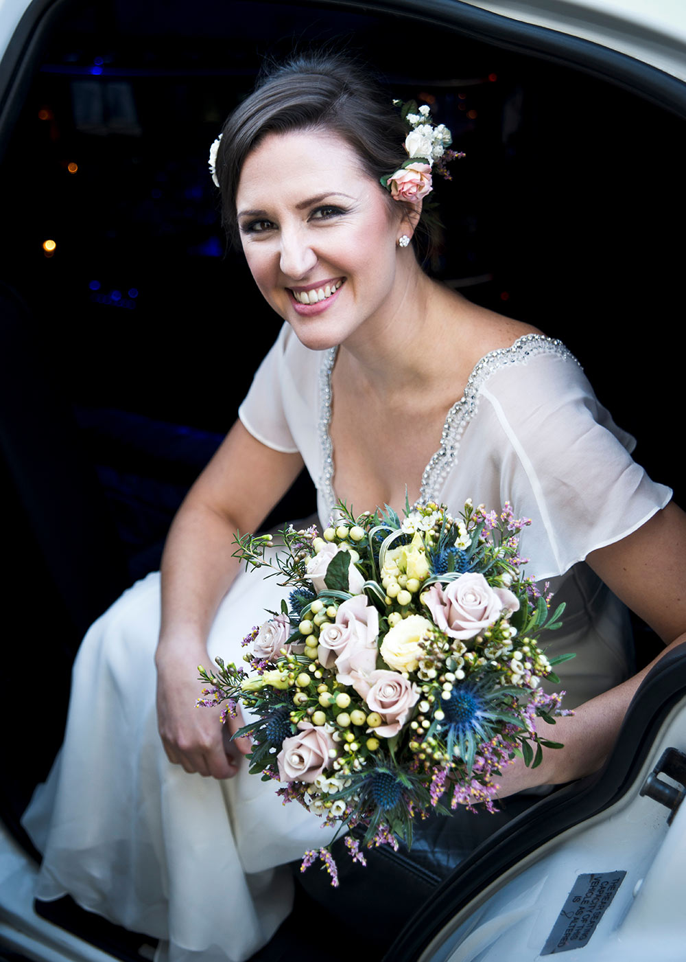 Make-up balanced to suit conditions, winter wedding planning