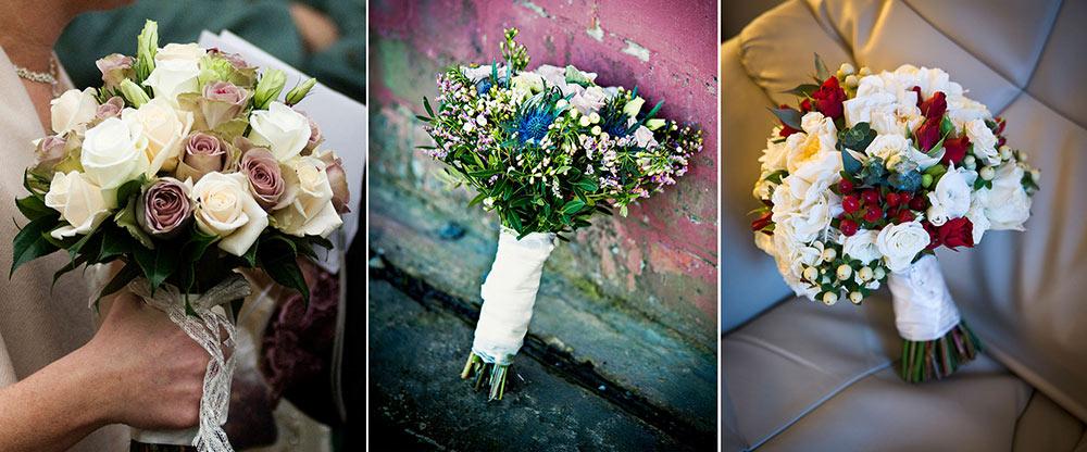 Seasonal varieties of bouquets, winter wedding planning