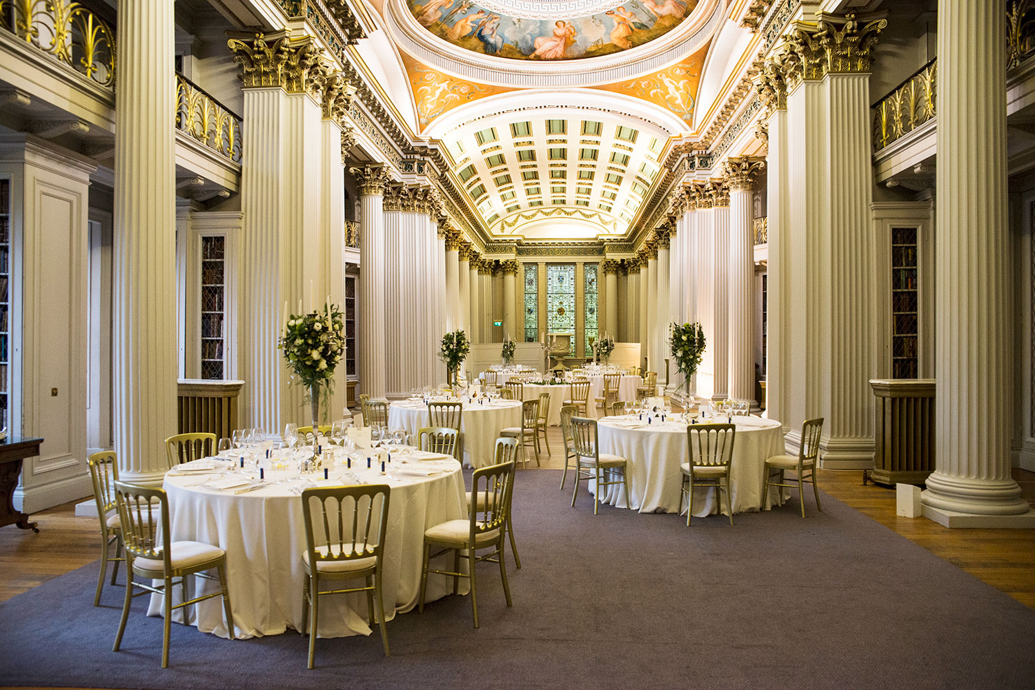 The room upstairs - you will remember this for the rest of your live. Breathtakingly beautiful, Signet Library Wedding Venue Edinburgh