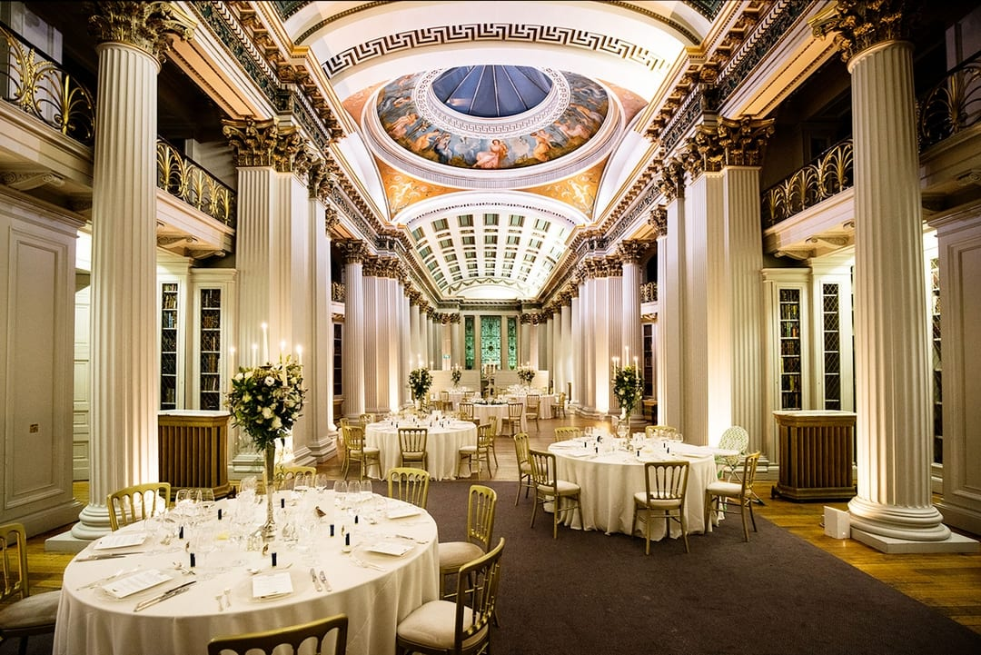Timeless elegance with gorgeous design and details, Signet Library Wedding Venue Edinburgh