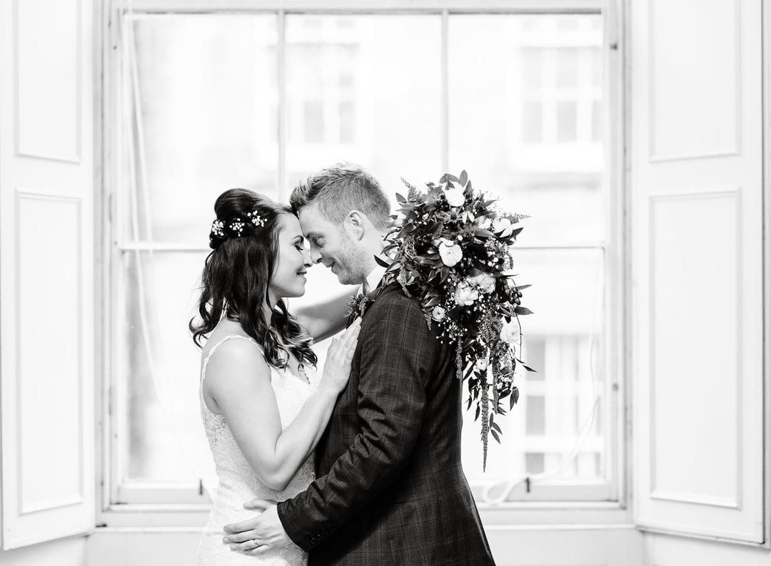I started taking photos of the couple in the library, waiting for the rain to stop. There are some beautiful backdrops in the great hall, Playfair Library Wedding Venue Edinburgh