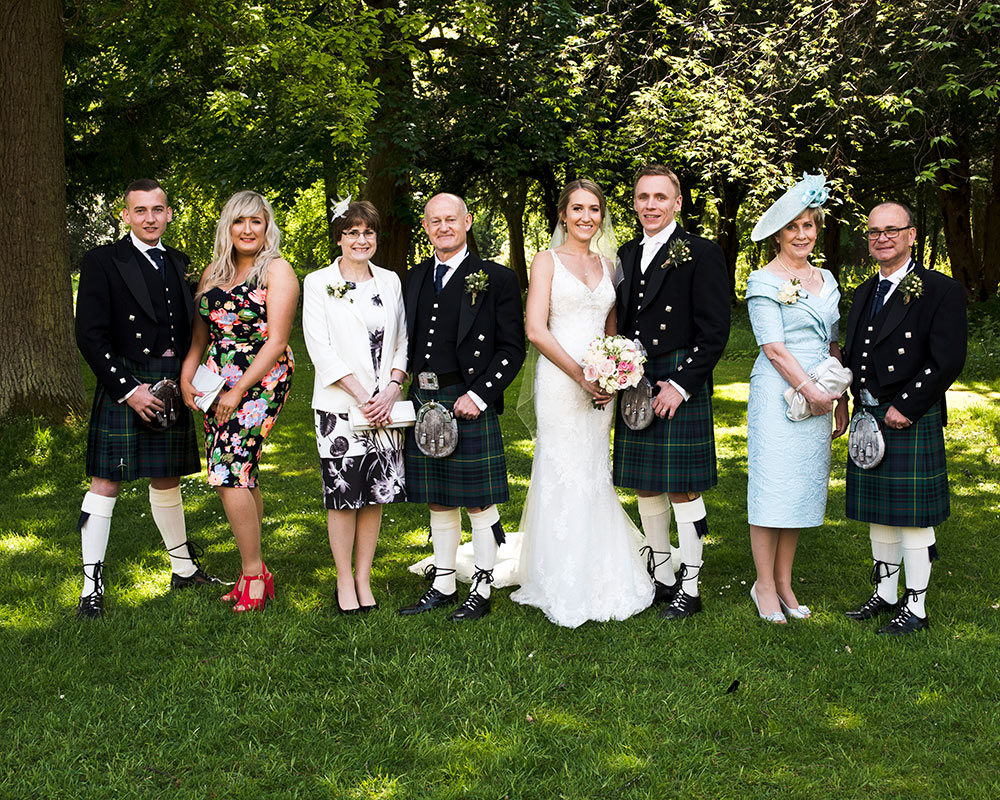 Close family groups can be accommodated in various locations, Carberry Tower Wedding Venue near Edinburgh