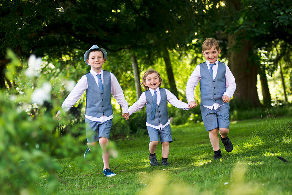 With children having the scope to run safe and free, Carberry Tower Wedding Venue near Edinburgh