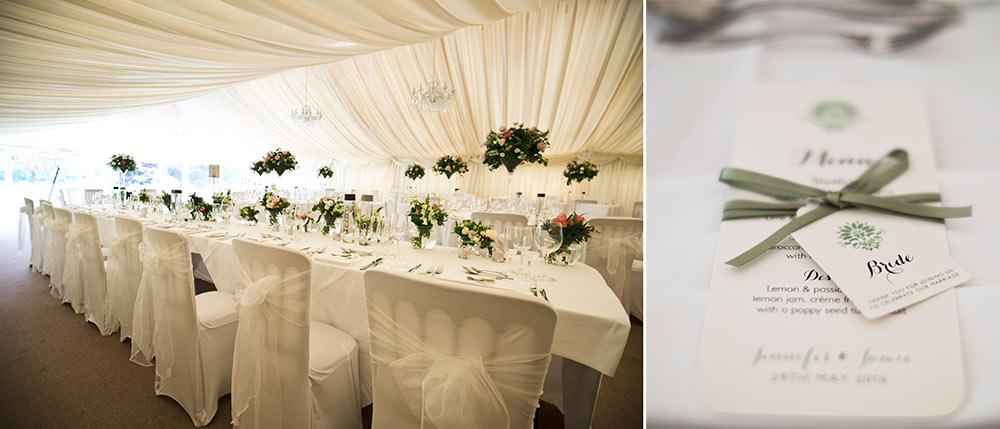 Table settings are shown off to their finest, Carberry Tower Wedding Venue near Edinburgh