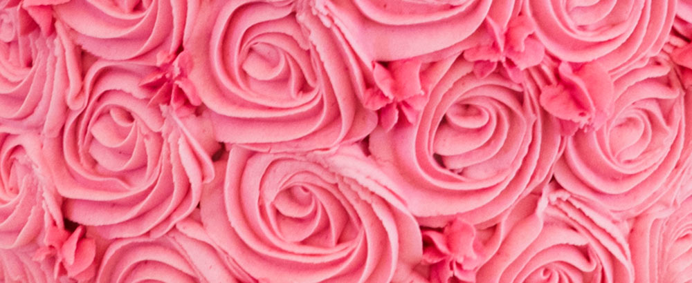 Pink swirls of rose like icing, Carberry Tower Wedding Venue near Edinburgh