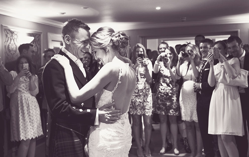 Many captures of the first dance, Carberry Tower Wedding Venue near Edinburgh