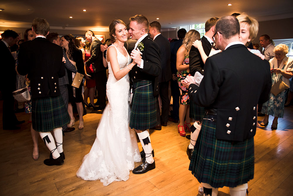 As time moves on, everyone else joins in, Carberry Tower Wedding Venue near Edinburgh