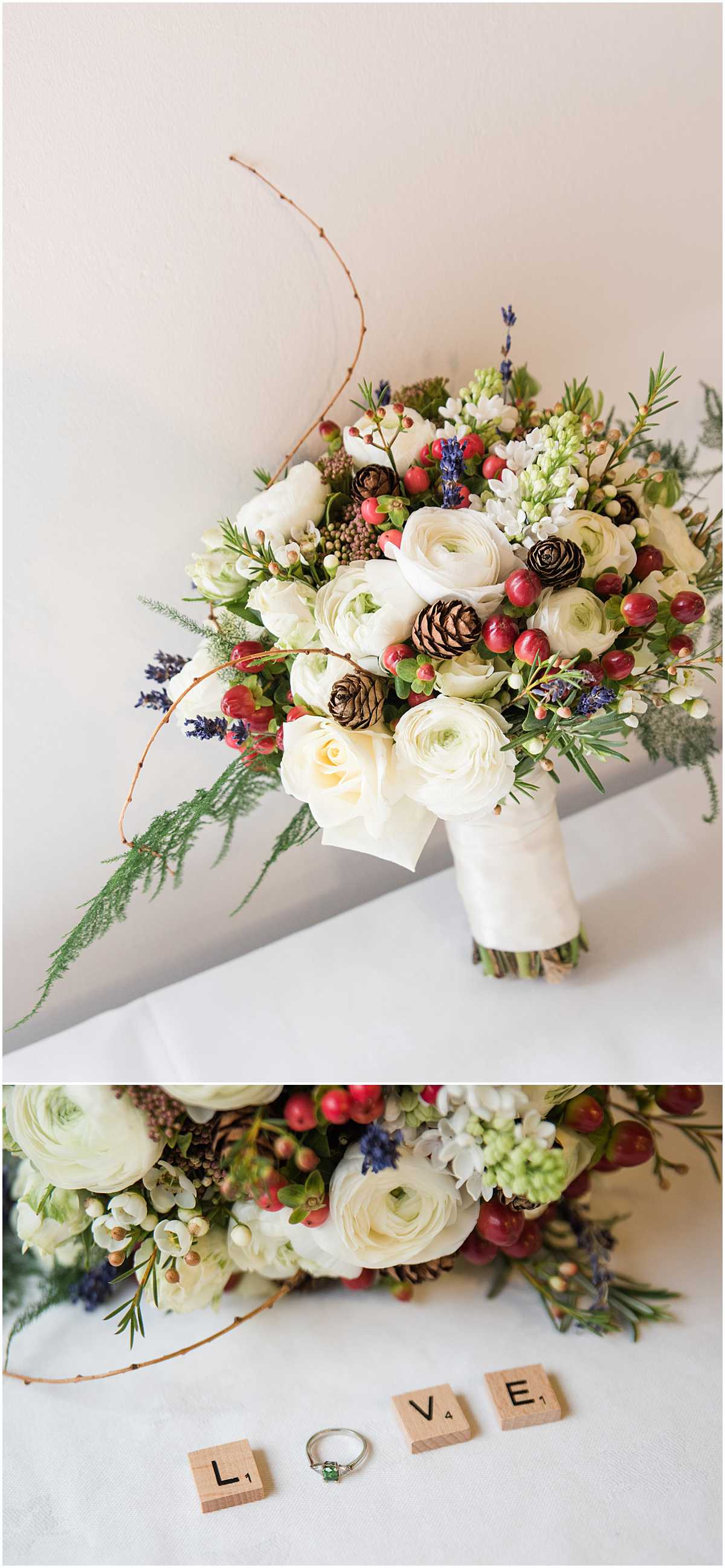 Bridal Bouquet Winter Wedding Edinburgh