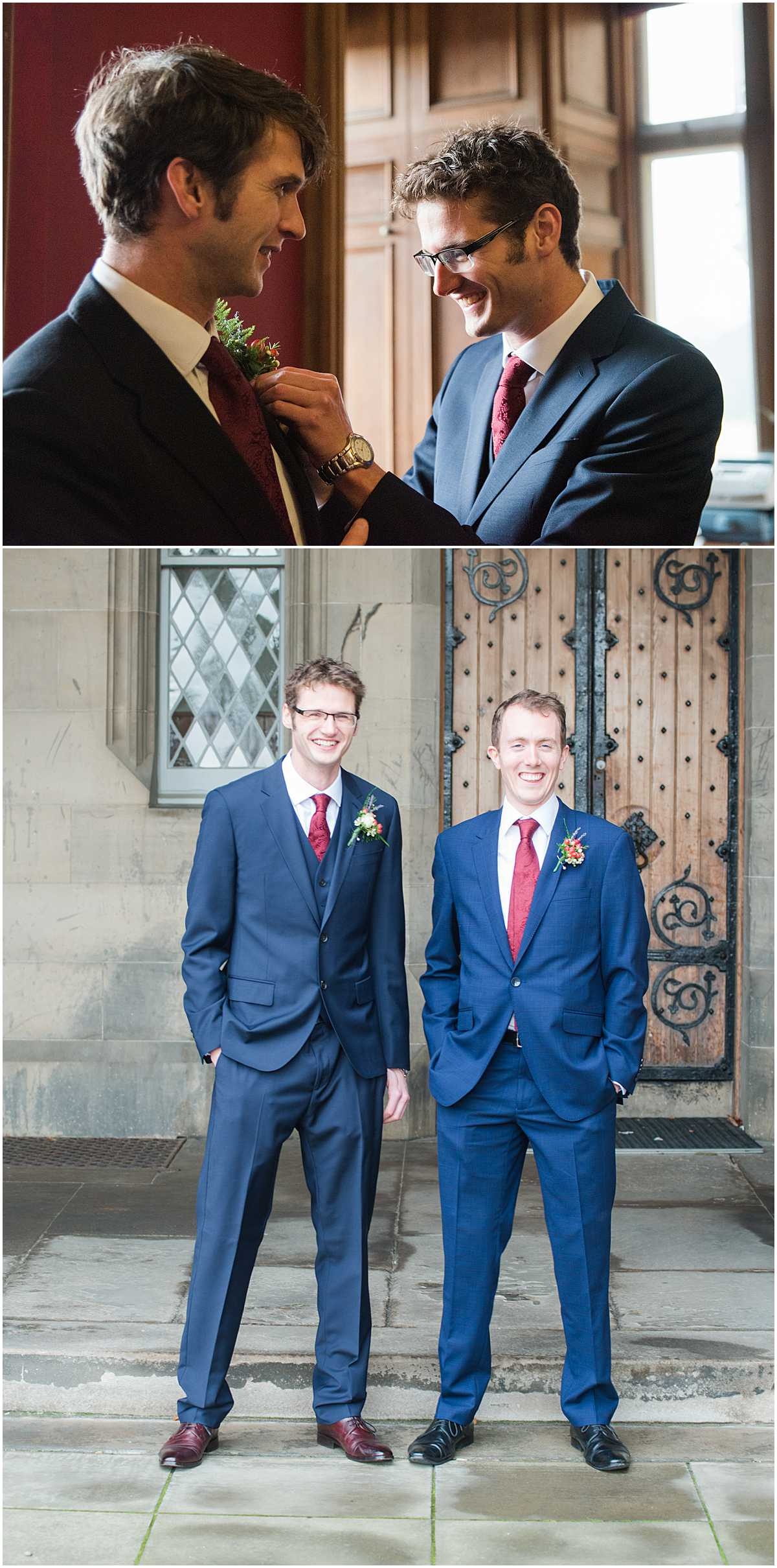Fettes College Edinburgh Wedding Before the Ceremony Photographs