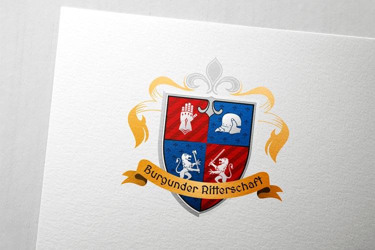 Logodesign für Burgunder Ritterschaft