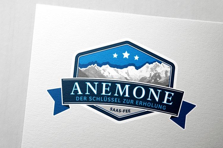 Logodesign für Anemone Saas-Fee
