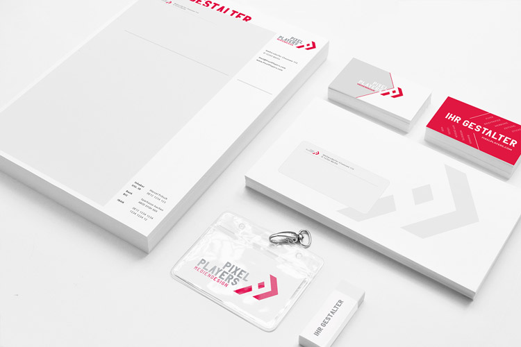 Corporate Identity für PixelPlayers Mediendesign