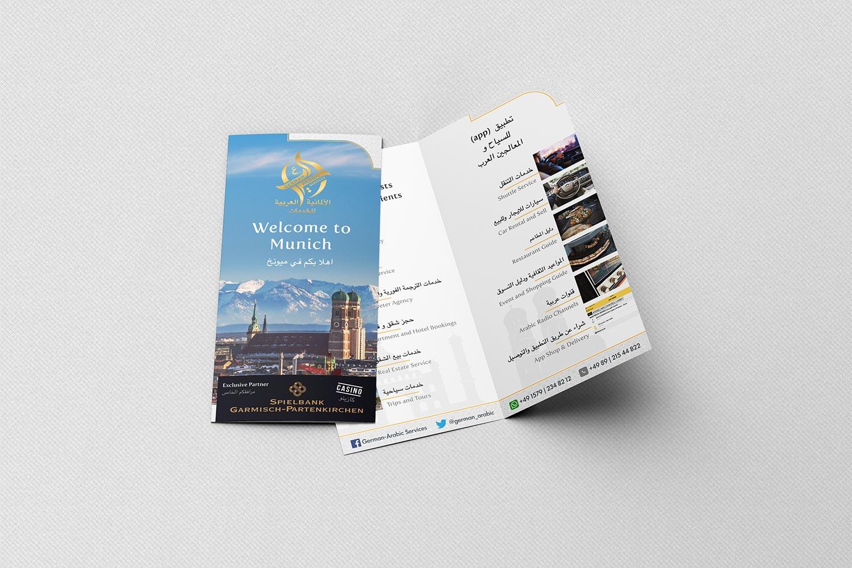 Flyer für German-Arabic Services