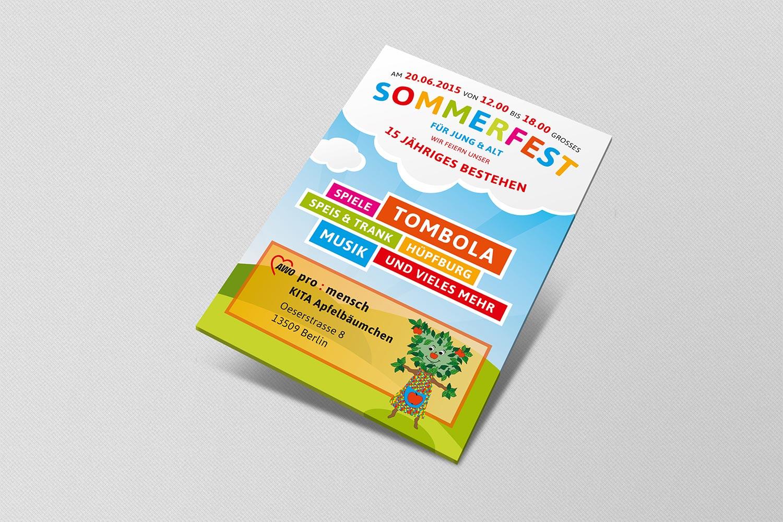 Flyer für Kita Apfelbäumchen