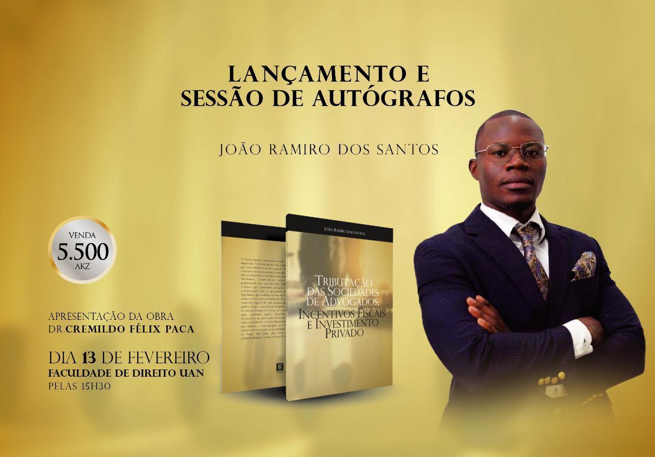 """Obra científica sobre """"Tributação das Sociedades de Advogados"""" será lançada em Luanda"""