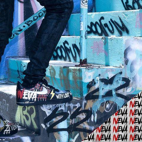 Streetwear-IVEVA Nike AF1 custom-Kilsuals.com