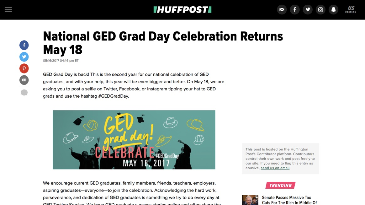 Gedgradday ged testing service case study social driver for Ged integrated solutions
