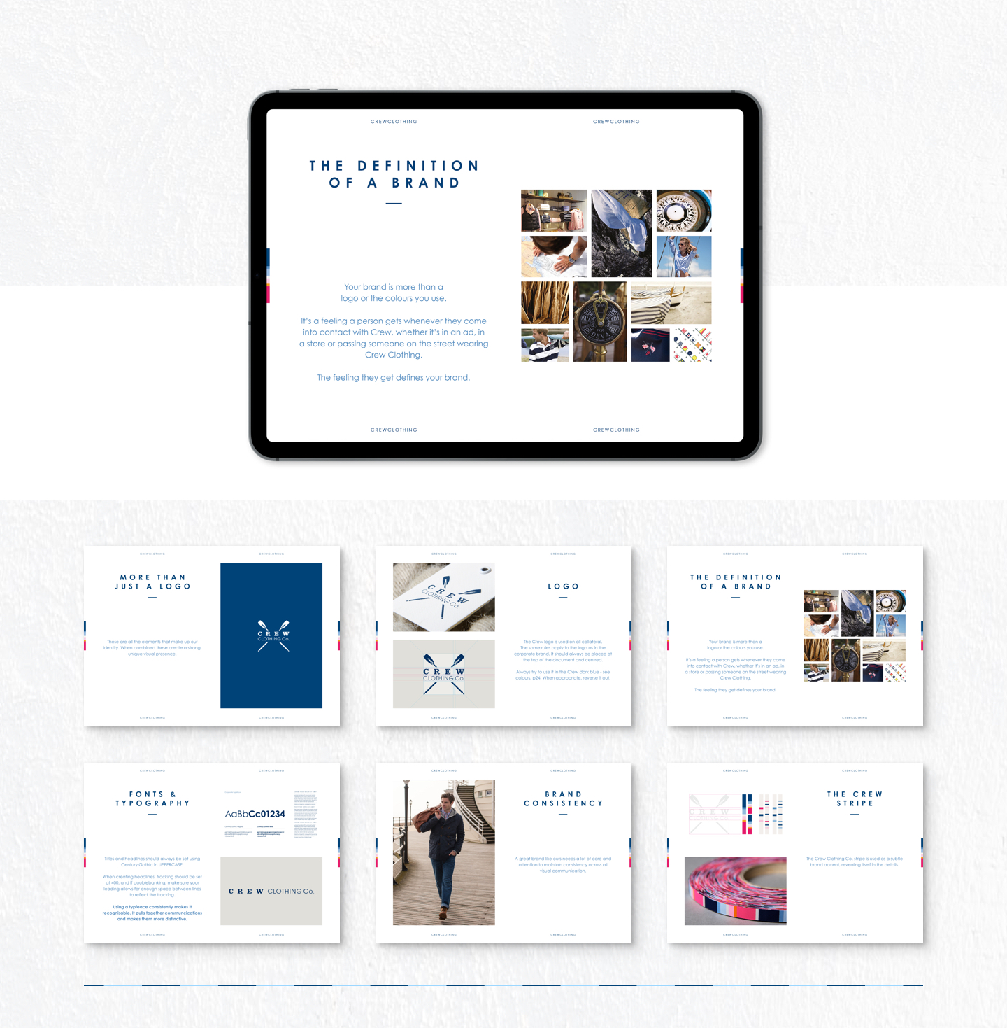 Brand Guidelines digital presentation. Responsive ipad image preview.
