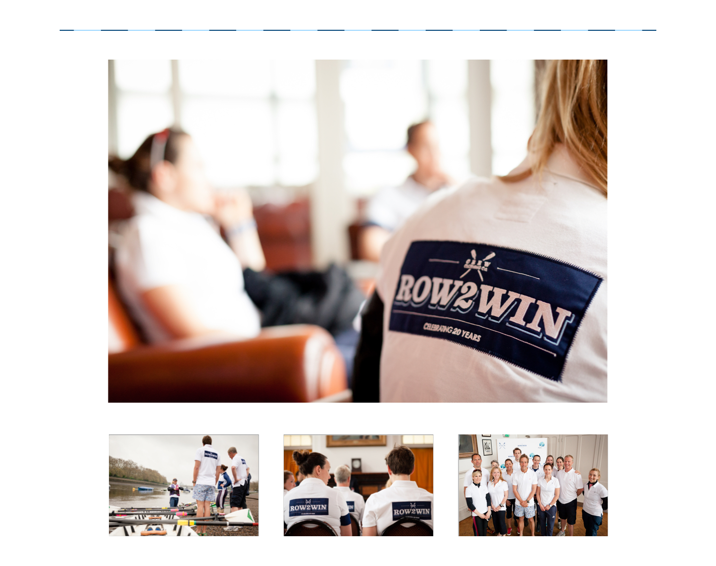 Row2Win event branding and logo design displayed on a polo shirt