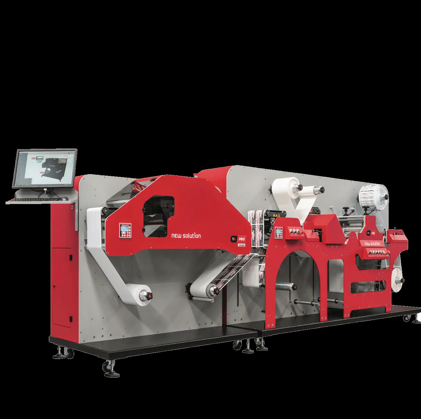 immagine stampante NS-Pro in linea con fustellatore digitale NS-22