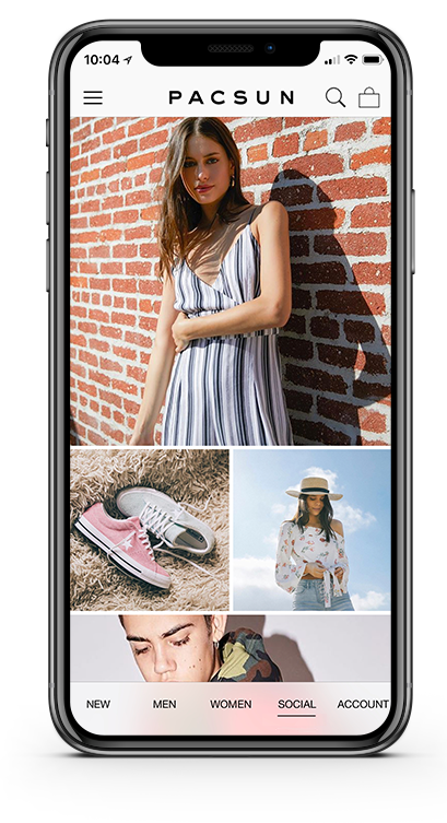 PacSun Consumer App Powered By PredictSpring Platform