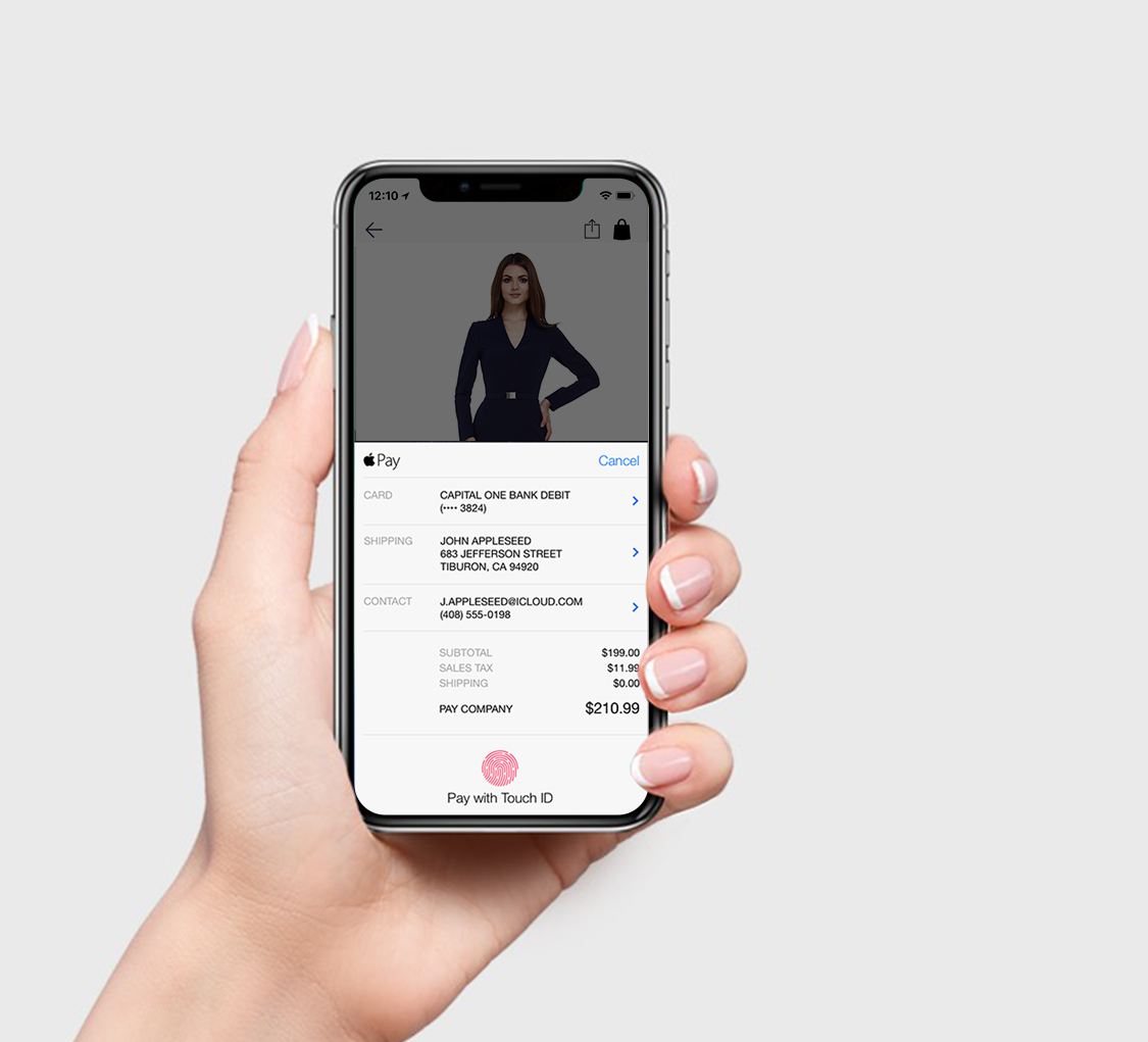 Apple Pay Payment on PredictSpring Native Mobile Shopping App for Retailers and Brands
