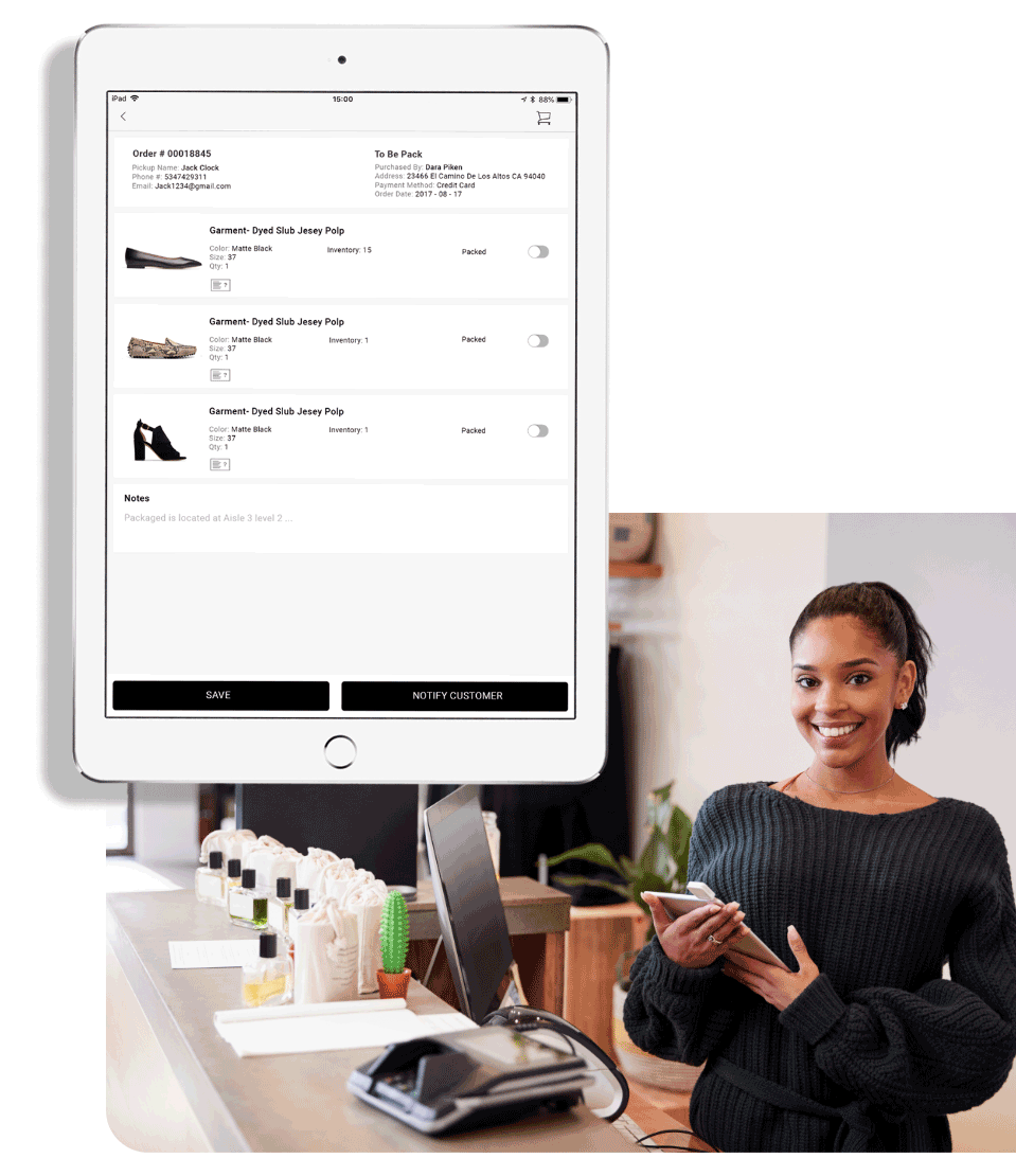 PredictSpring Retail Store Order Fulfillment App for Store Associates
