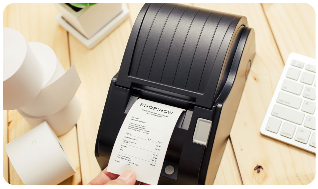 POS - point of sale software paired with wireless Receipt Printer for Brands and Retailers by PredictSpring
