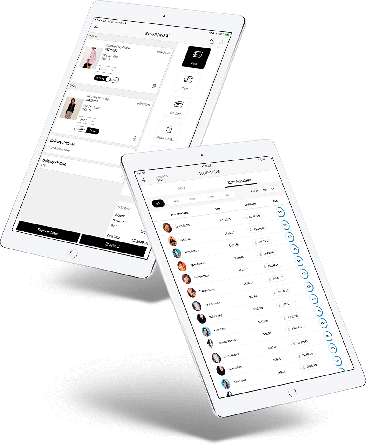 PredictSpring Endless Aisle iPad App for Brands and Retailers