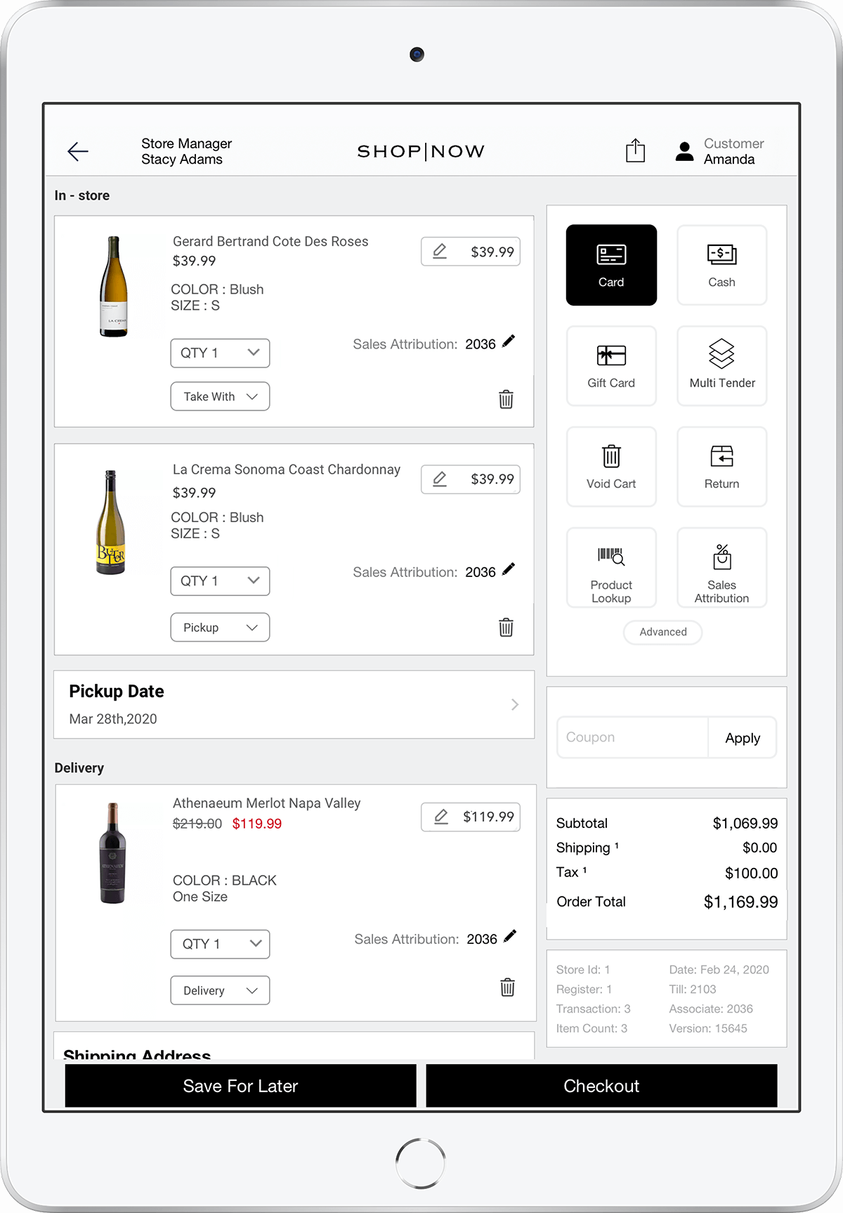 POS - Winery Point of sale software by PredictSpring