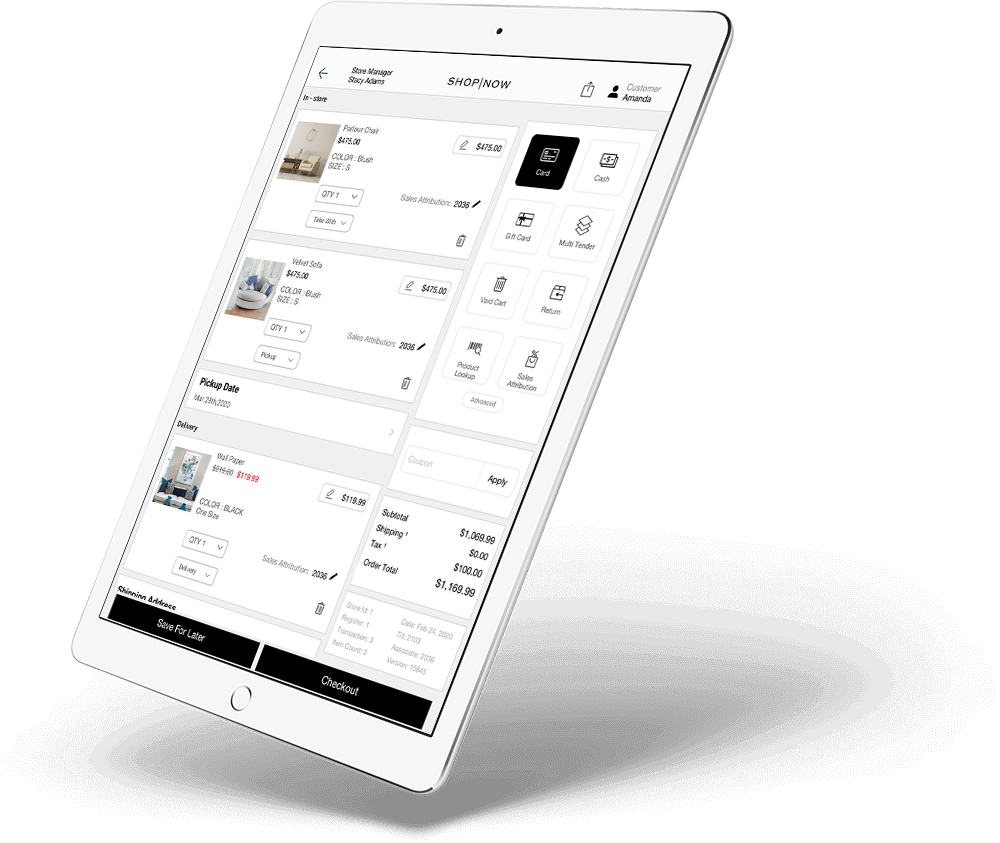 mPOS Native Mobile App for Store Associates Powered By PredictSpring