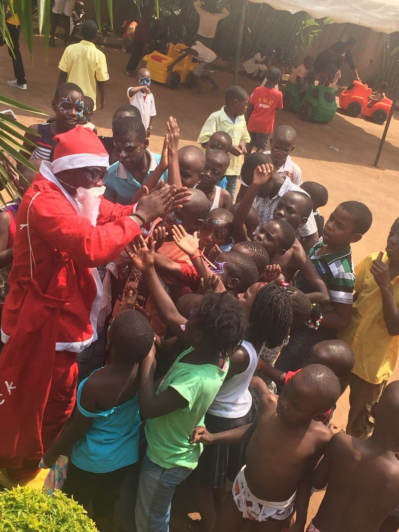 Santa in Bwaise