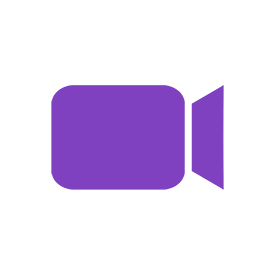 Round White Video Conference Icon