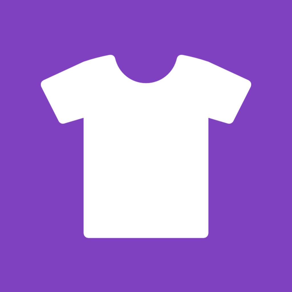 Purple Round Shirt Icon