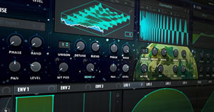 Xfer Records' Serum using a custom Rick and Morty skin.