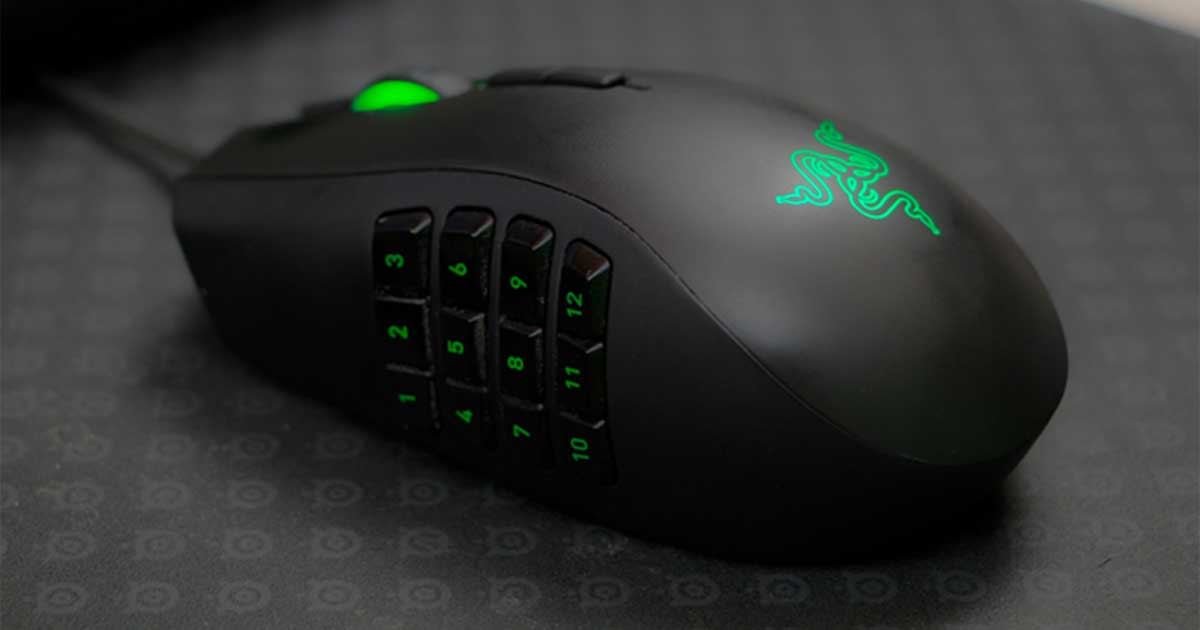 An image of a Razer Naga Chroma mouse.