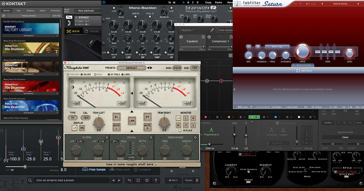 A variety of plugins.