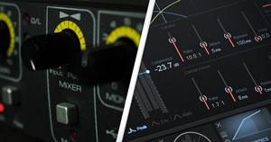 Analog knobs and digital controls.