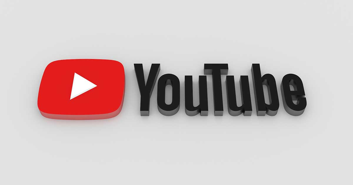 YouTube's logo and type font.