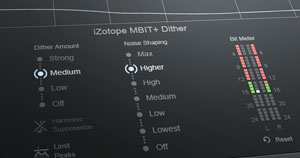 The dither module within iZotope's Ozone plugin.