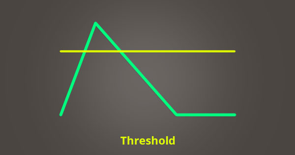 A picture of a compressor's threshold level.