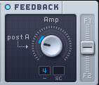 An image of the Feedback section in Native Instruments' Massive.