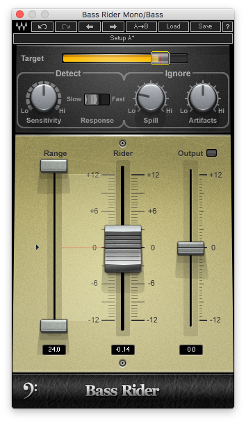 An image of Waves' Bass Rider plugin.