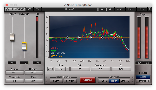 An image of Waves' Z-Noise plugin.