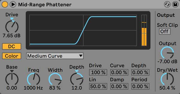 An image of Ableton's Saturator.