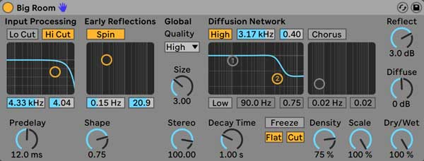 An image of Ableton's Reverb.