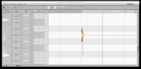 An image of Celemony Melodyne's interface.