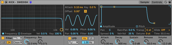 An image of Ableton's Simpler.