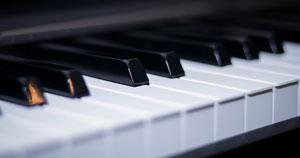 The keys of a piano.